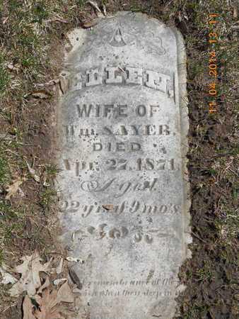 SAYER, ELLEN - Calhoun County, Michigan | ELLEN SAYER - Michigan Gravestone Photos