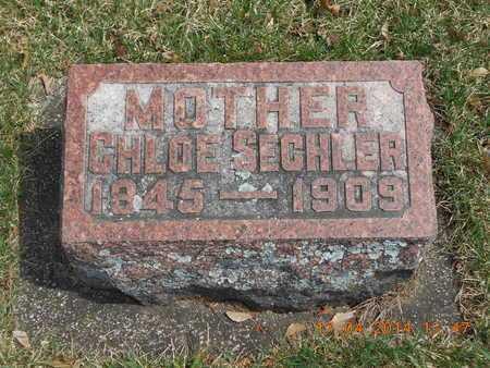SECHLER, CHLOE - Calhoun County, Michigan | CHLOE SECHLER - Michigan Gravestone Photos