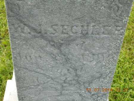 SECHLER, W.J. - Calhoun County, Michigan | W.J. SECHLER - Michigan Gravestone Photos