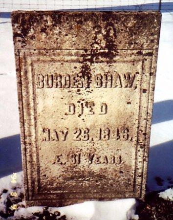 SHAW, BURDEN - Calhoun County, Michigan   BURDEN SHAW - Michigan Gravestone Photos