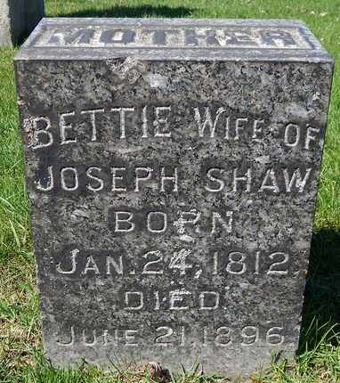SHAW, BETTIE - Calhoun County, Michigan | BETTIE SHAW - Michigan Gravestone Photos