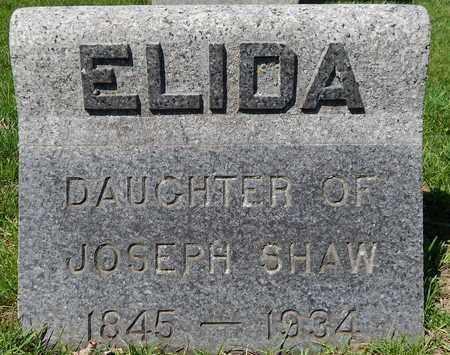 SHAW, ELIDA - Calhoun County, Michigan   ELIDA SHAW - Michigan Gravestone Photos