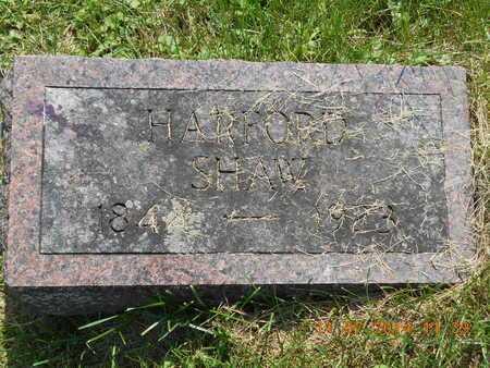 SHAW, HARFORD - Calhoun County, Michigan | HARFORD SHAW - Michigan Gravestone Photos