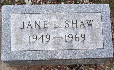 SHAW, JANE E - Calhoun County, Michigan | JANE E SHAW - Michigan Gravestone Photos