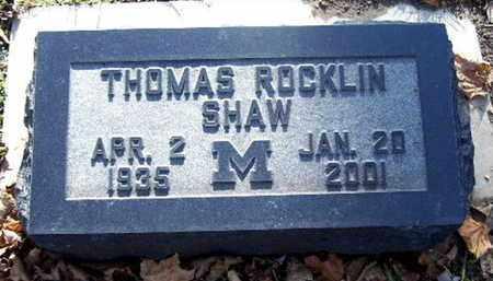 SHAW, THOMAS R - Calhoun County, Michigan | THOMAS R SHAW - Michigan Gravestone Photos