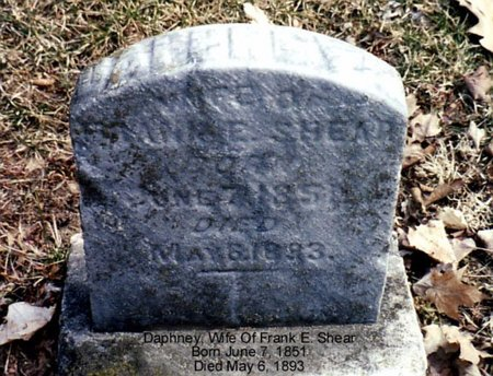 SHEAR, DAPHNEY - Calhoun County, Michigan   DAPHNEY SHEAR - Michigan Gravestone Photos