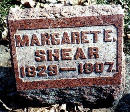 SHEAR, MARGARET - Calhoun County, Michigan   MARGARET SHEAR - Michigan Gravestone Photos