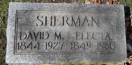 SHERMAN, DAVID M - Calhoun County, Michigan | DAVID M SHERMAN - Michigan Gravestone Photos