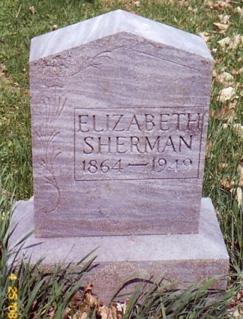SHERMAN, ELIZABETH - Calhoun County, Michigan | ELIZABETH SHERMAN - Michigan Gravestone Photos