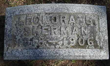 SHERMAN, LEONORA B - Calhoun County, Michigan | LEONORA B SHERMAN - Michigan Gravestone Photos