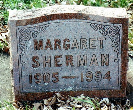 SHERMAN, MARGARET - Calhoun County, Michigan | MARGARET SHERMAN - Michigan Gravestone Photos