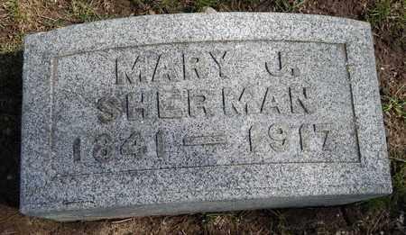 SHERMAN, MARY J - Calhoun County, Michigan | MARY J SHERMAN - Michigan Gravestone Photos