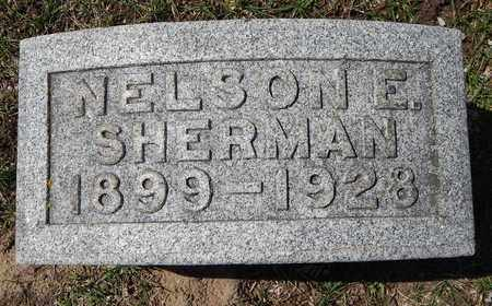 SHERMAN, NELSON E - Calhoun County, Michigan   NELSON E SHERMAN - Michigan Gravestone Photos