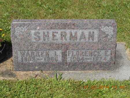 SHERMAN, FLORENCE E. - Calhoun County, Michigan | FLORENCE E. SHERMAN - Michigan Gravestone Photos
