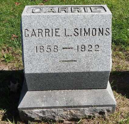 SIMONS, CARRIE L - Calhoun County, Michigan   CARRIE L SIMONS - Michigan Gravestone Photos