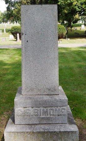 SIMONS, FAMILY MARKER - Calhoun County, Michigan   FAMILY MARKER SIMONS - Michigan Gravestone Photos