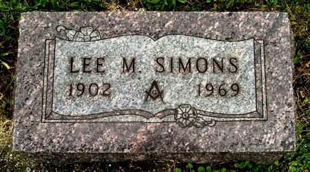 SIMONS, LEE M - Calhoun County, Michigan   LEE M SIMONS - Michigan Gravestone Photos