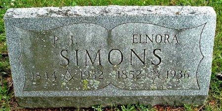 SIMONS, ELNORA - Calhoun County, Michigan | ELNORA SIMONS - Michigan Gravestone Photos