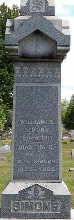 SIMONS, DIANTHA - Calhoun County, Michigan | DIANTHA SIMONS - Michigan Gravestone Photos