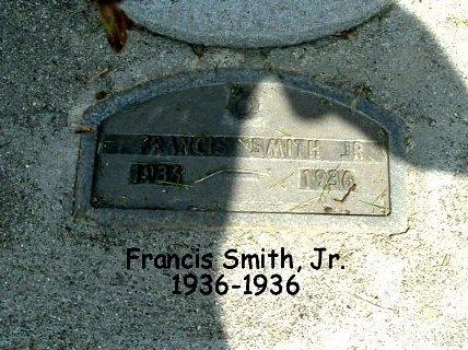 SMITH, FRANCIS JR. - Calhoun County, Michigan   FRANCIS JR. SMITH - Michigan Gravestone Photos