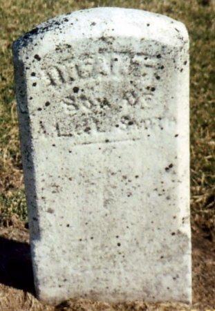 SMITH, INFANT SON OF A. L. - Calhoun County, Michigan | INFANT SON OF A. L. SMITH - Michigan Gravestone Photos