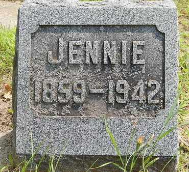 SMITH, JENNIE - Calhoun County, Michigan   JENNIE SMITH - Michigan Gravestone Photos
