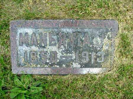 SMITH, MANERVIA - Calhoun County, Michigan | MANERVIA SMITH - Michigan Gravestone Photos