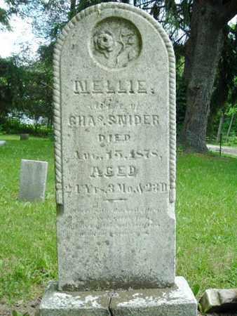 SNIDER, NELLIE - Calhoun County, Michigan | NELLIE SNIDER - Michigan Gravestone Photos