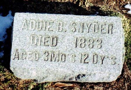 SNYDER, ADDIE B. - Calhoun County, Michigan | ADDIE B. SNYDER - Michigan Gravestone Photos