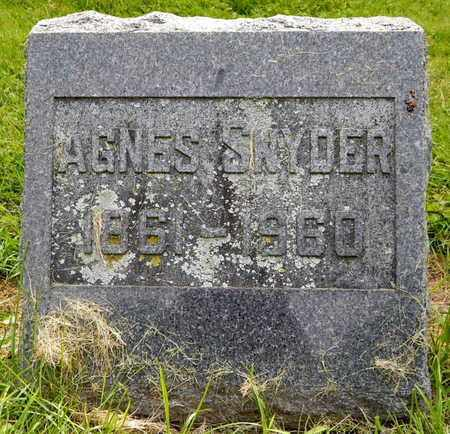 SNYDER, AGNES - Calhoun County, Michigan | AGNES SNYDER - Michigan Gravestone Photos