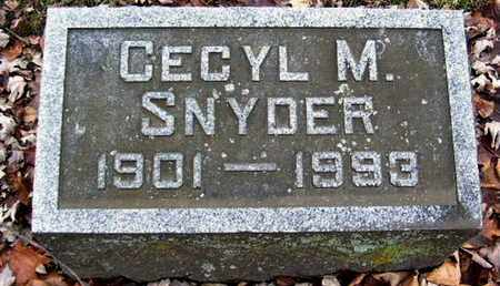 SNYDER, CECYL M - Calhoun County, Michigan | CECYL M SNYDER - Michigan Gravestone Photos