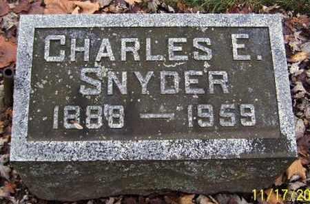 SNYDER, CHARLES E - Calhoun County, Michigan | CHARLES E SNYDER - Michigan Gravestone Photos