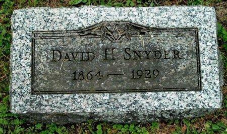 SNYDER, DAVID H - Calhoun County, Michigan   DAVID H SNYDER - Michigan Gravestone Photos