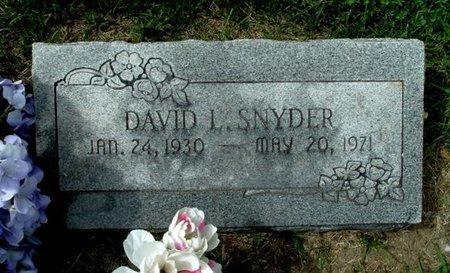 SNYDER, DAVID L. - Calhoun County, Michigan | DAVID L. SNYDER - Michigan Gravestone Photos