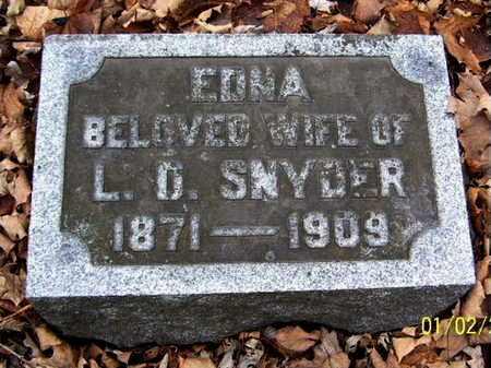 SNYDER, EDNA - Calhoun County, Michigan | EDNA SNYDER - Michigan Gravestone Photos