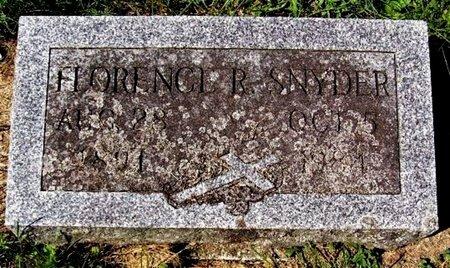 SNYDER, FLORENCE R - Calhoun County, Michigan | FLORENCE R SNYDER - Michigan Gravestone Photos