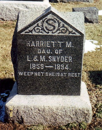 SNYDER, HARRIETT M. - Calhoun County, Michigan | HARRIETT M. SNYDER - Michigan Gravestone Photos