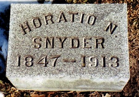 SNYDER, HORATIO N. - Calhoun County, Michigan | HORATIO N. SNYDER - Michigan Gravestone Photos