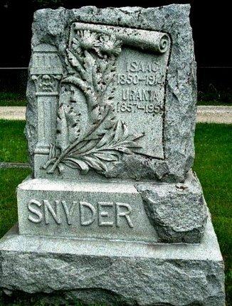 SNYDER, URANIA - Calhoun County, Michigan | URANIA SNYDER - Michigan Gravestone Photos
