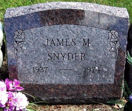 SNYDER, JAMES M - Calhoun County, Michigan | JAMES M SNYDER - Michigan Gravestone Photos