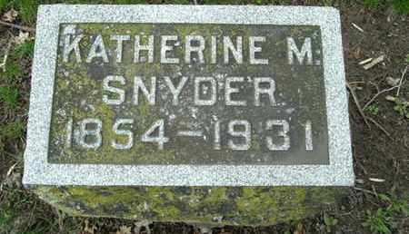 SNYDER, KATHERINE M - Calhoun County, Michigan | KATHERINE M SNYDER - Michigan Gravestone Photos