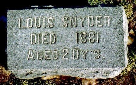 SNYDER, LOUIS - Calhoun County, Michigan | LOUIS SNYDER - Michigan Gravestone Photos