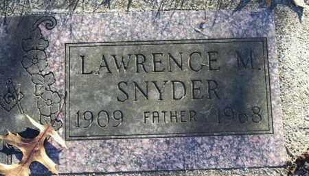 SNYDER, LAWRENCE M - Calhoun County, Michigan | LAWRENCE M SNYDER - Michigan Gravestone Photos