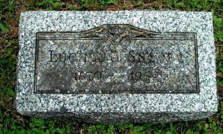 SNYDER, LUCINDA - Calhoun County, Michigan | LUCINDA SNYDER - Michigan Gravestone Photos