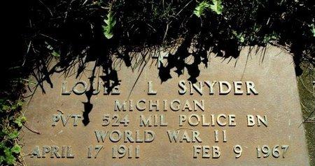 SNYDER, LOUIE L. - Calhoun County, Michigan   LOUIE L. SNYDER - Michigan Gravestone Photos