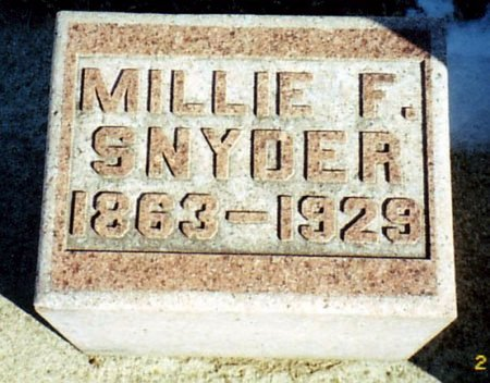 SNYDER, MILLIE - Calhoun County, Michigan | MILLIE SNYDER - Michigan Gravestone Photos