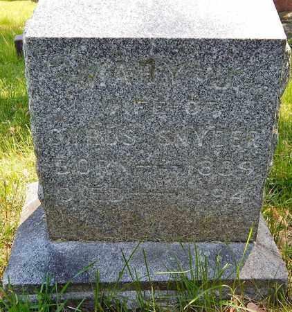 SNYDER, MARY J - Calhoun County, Michigan | MARY J SNYDER - Michigan Gravestone Photos