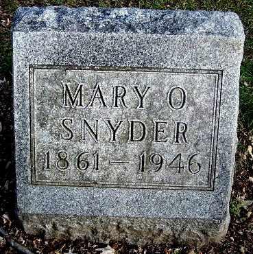 SNYDER, MARY O - Calhoun County, Michigan | MARY O SNYDER - Michigan Gravestone Photos
