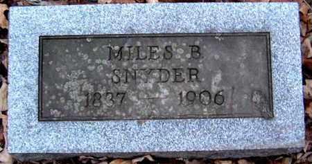 SNYDER, MILES B - Calhoun County, Michigan | MILES B SNYDER - Michigan Gravestone Photos