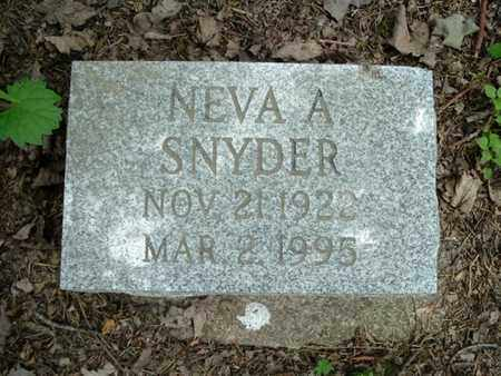SNYDER, NEVA - Calhoun County, Michigan | NEVA SNYDER - Michigan Gravestone Photos